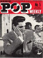 Pop Weekly Magazine. September 28th 1963. Elvis Presley Cover. EXC.