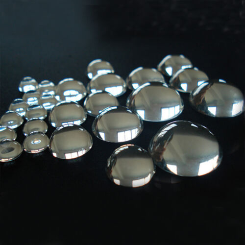100pcs Beautiful Clear Transparent Dome Half Round DIY Jewelry Glass Cabochons