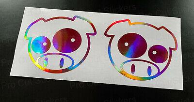 Manga Angry Pig Paint Splat Custom Car Bumper WIndow Custom Stickers Decals JDM
