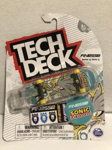 TECH DECK Finesse Sonic The Hedgehog Série 13 ULTRA RARE Touche Skateboard