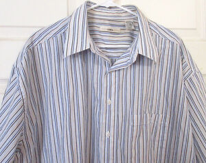 MENS-CAMPIA-MODA-Size-2XLT-Stripe-Shirt-Short-Sleeves-Poly-Cotton