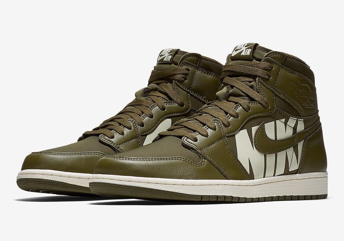 Nike Air Jordan 1 Retro High High High OG Olive Canvas Size 11.5. 555088-300 48e1cc