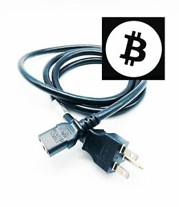 Antminer S9 L3 3/' AC Power Cable for BITMAIN APW3+ D3 HEAVY DUTY 220V 250V