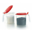 Tupperware 2x Salt N/' Spice Storage Cooking Preparation Set Red Seal 500ml
