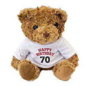 Image Is Loading NEW HAPPY BIRTHDAY 70 Teddy Bear Cute Cuddly