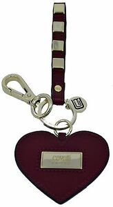 Keyring Roberto Cavalli Class Keyholder Heart Burgundy Man Woman GIFT BOX