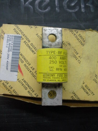 400 A amp 250 v volt rectifier fuse RFN400 Federal Pacific Econ type RF 20 avail