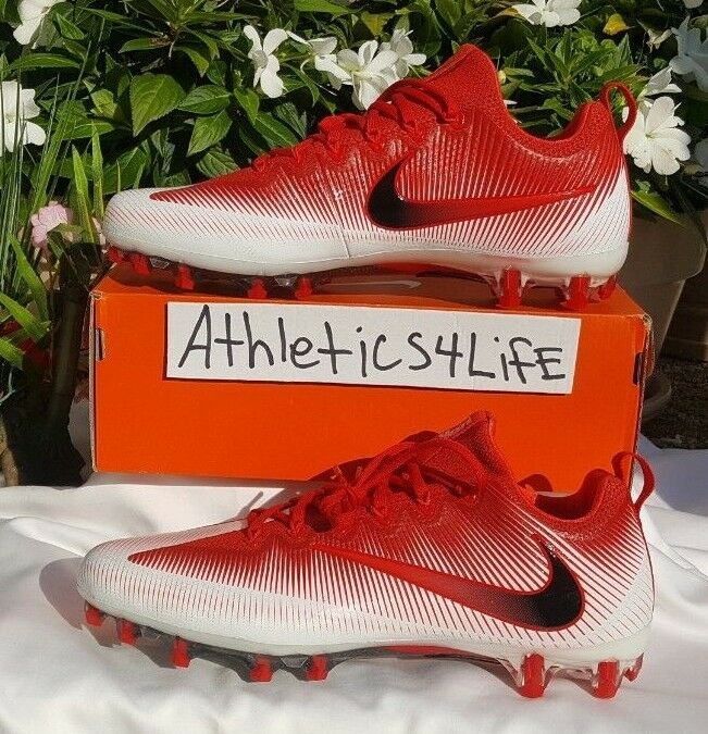 d7b9b46a7 NIKE VAPOR FOOTBALL CLEATS SIZE 12.5 RED WHITE 833385-601 UNTOUCHABLE PRO  nukmxh1027-Men