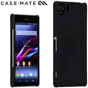 finest selection 28cd9 07bd5 Details about GENUINE CaseMate Sony Xperia Z1 Compact Barely There Case  Cover Black | CM030807
