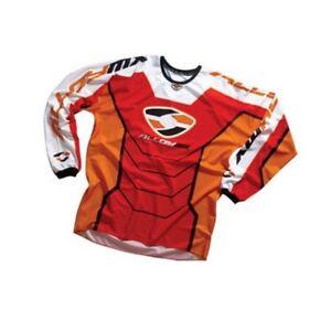 Alloy-MX-Motocross-Maglia-05-Reattore-Rosso-Arancio-Mountain-Bike-da-Enduro-Top