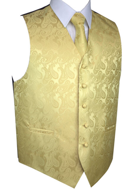 TIE /& HANKIE SET Wedding Cruise Men/'s APPLE PAISLEY FORMAL TUXEDO VEST Prom