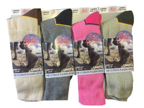New Ladies Sox Appeal Cotton Rich Cushioned Foot Ultimate Walking Socks UK 4-7