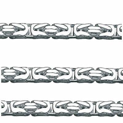 Echt Silber 925 Königskette massiv Männer Länge 50 cm Breite 3,2 mm Karabiner