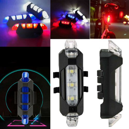 MTB Road Bike USB Rechargeable LED Taillight Bicycle Cycling Waterproof Lights