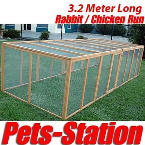 3-2M-Giant-Chicken-Coop-Rabbit-Hutch-Hen-Chook-Extension-House-Cat-Run