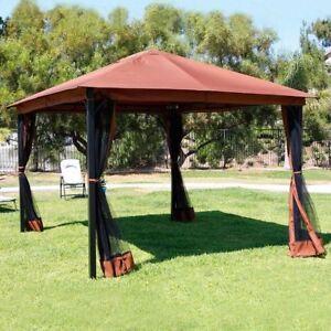 Outdoor-10-039-x-12-039-Backyard-Garden-Patio-Gazebo-Canopy-Tent-w-Mosquito-Netting