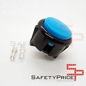 Pulsador-Arcade-30mm-Azul-faston-Jamma-Push-button-Bartop-Raspberry-SP