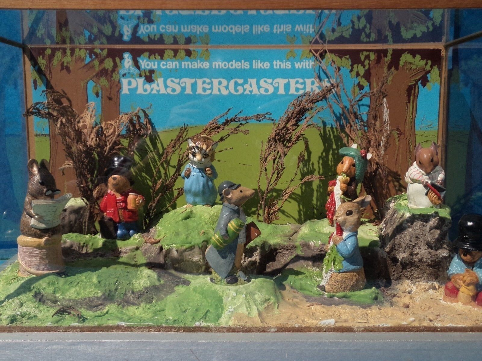 Vintage Store Display - PLASTERCASTERS -70's Paddington Bear Beatrix Potter Rare