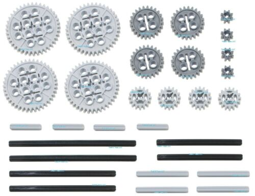 LEGO 30pc Technic gear /& axle SET Mindstorms nxt robot rcx lot pack hobby NEW