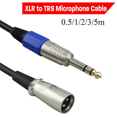 TRS Plug to 3 Pin XLR Mic Cable Balanced Lead Female XLR to 6.35mm Stereo Jack