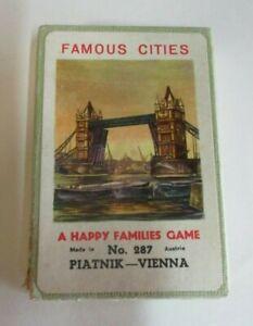 Vintage-039-Famous-Cities-A-Happy-Families-Game-039-Cards-Piatnik-Austria