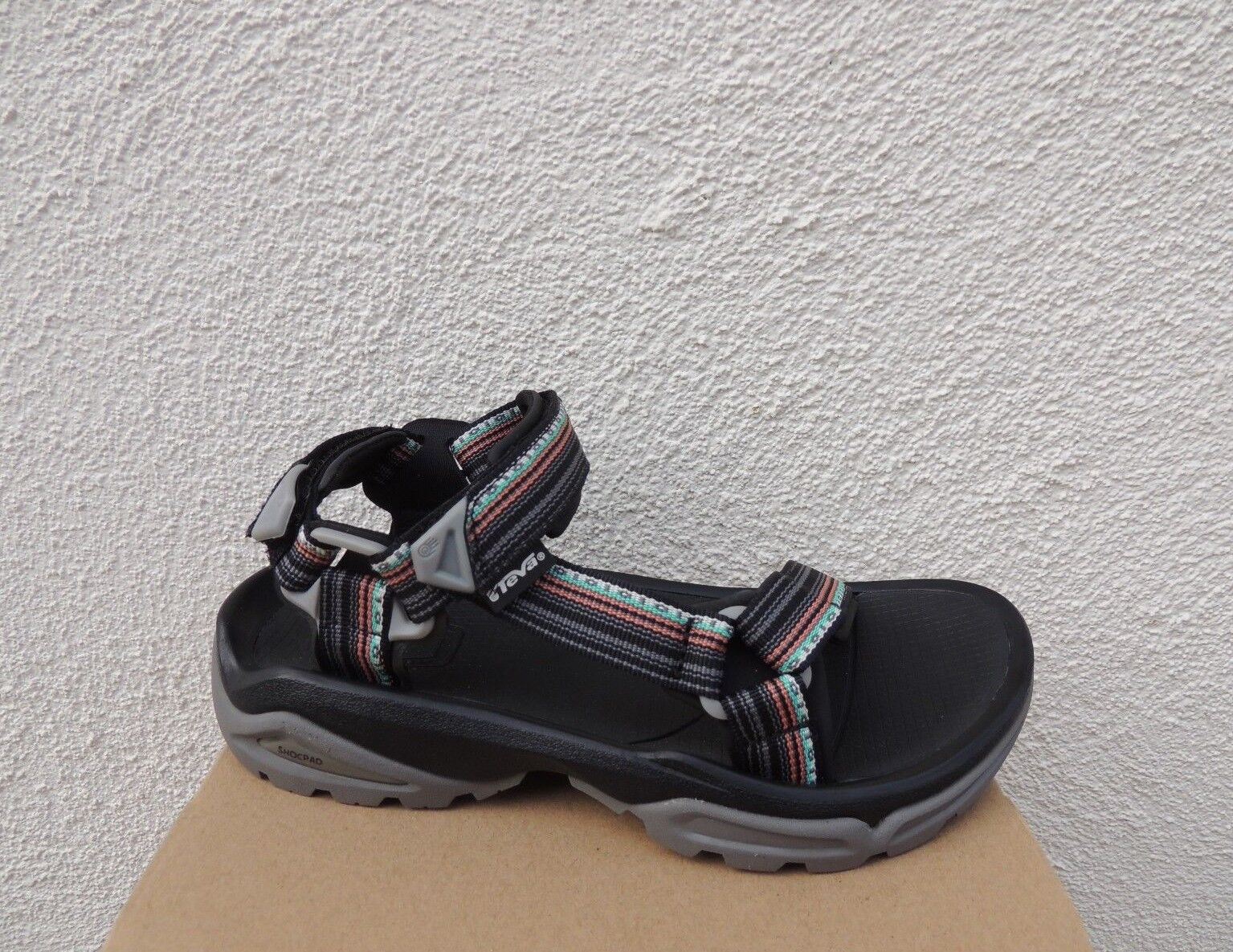 TEVA TERRA FI 4 LA LA LA MANTA BLACK SPORT  HIKING SANDALS, WOMEN US 10  EUR 41 NEW 948938
