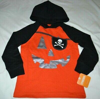 NWT Gymboree Happy Harvest Boy Black Bat Hood Sweatshirt Halloween 18-24 M