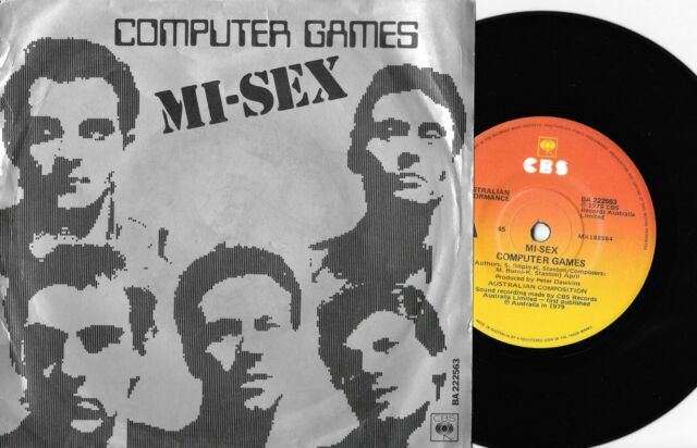 """MI-SEX - COMPUTER GAMES / WOT DO YOU WANT? - 7"""" 45 VINYL RECORD w PIC SLV - 1979"""