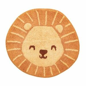 Lion-Tete-Sol-Tapis-Chambre-D-039-Enfant-59cm-W-X-55cm-H-23in-x-21-5in