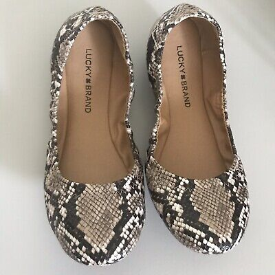 Details about  /Lucky Brand Emmie Ballet Flats Leather Upper Choose Color /& Size