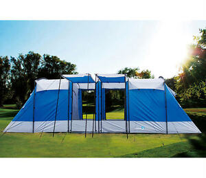 Image is loading Peaktop-2-1-Room-Faily-Group-C&ing-Tent-  sc 1 st  eBay & Peaktop 2+1 Room Faily Group Camping Tent 6 Person 100% Waterproof ...