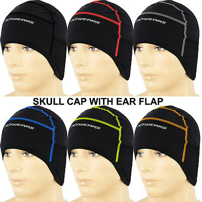 Cycling Skull Cap Thermal Cold Wear Winter Bicycling Ear Cover Cap One Size