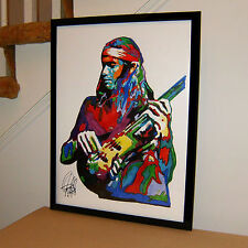 Jaco Pastorius, Weather Report, Bass Guitar, Jazz Fusion, 18x24 PRINT w/COA