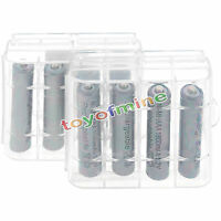 8x3a Aaa 1800mah Nimh 1.2v Grey Rechargeable Battery +2x Plastic Case