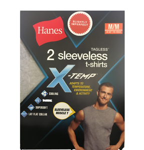 9c31c748 Hanes Men's 2 Pk Tagless Sleeveless Muscle T-shirts X-temp Color ...