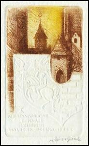 Szoltysek-Kazimierz-1984-Exlibris-C4-Architecture-Heraldry-Crest-Wappen-1499
