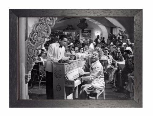 Klavier Aktion Sam Beauty Handsome Oldschool Schwarz Weiß Poster Casablanca