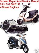 Scooter Repair Service Manual CD ROM 50cc GY6 Engines Chinese and Other Scooters
