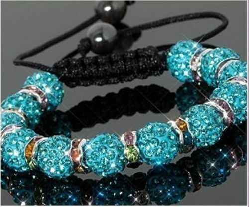 Algo diseño turquesa pulsera//brazalete Shamballa cristal//circonita nuevo