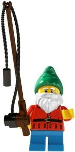 LEGO-Minifig-series-4-Lawn-Garden-Gnome-8804-may-suit-city-set