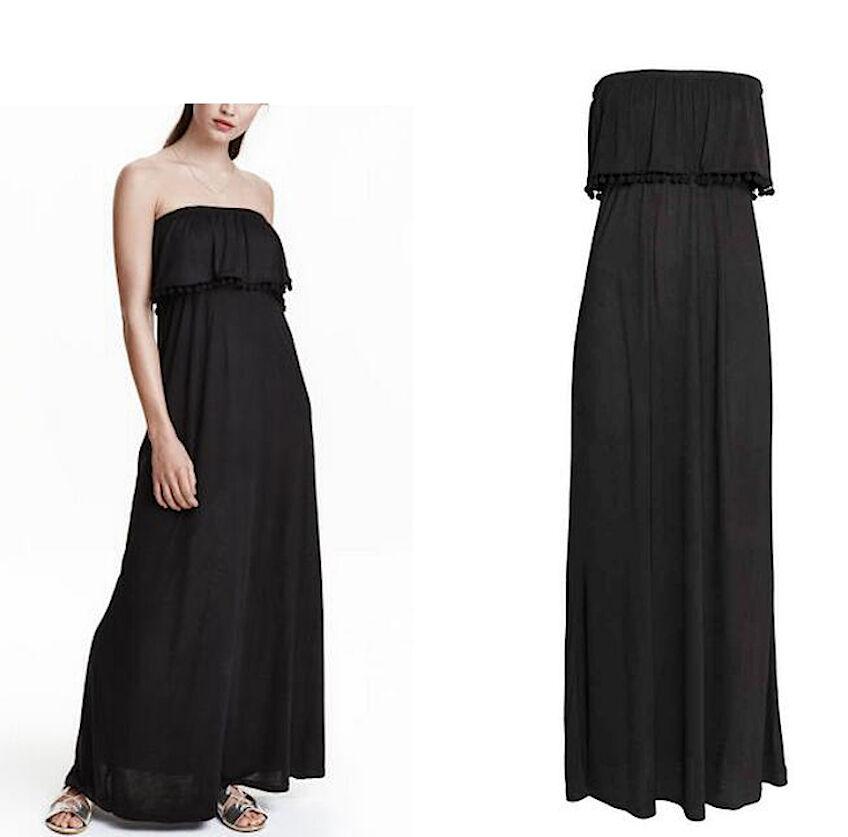 Vestito Lungo Estate Off Donna Senza Spalle Woman Maxi Dress Off Estate Shoulders 110167 a15e92