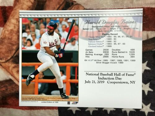 """Limited Photo Harold Baines 1500 Baseball Hall of Fame Induction 8 x 10/"""""""