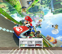 Mario Kart Wall Mural Wall Art Quality Pastable Wallpaper Decal Nintendo
