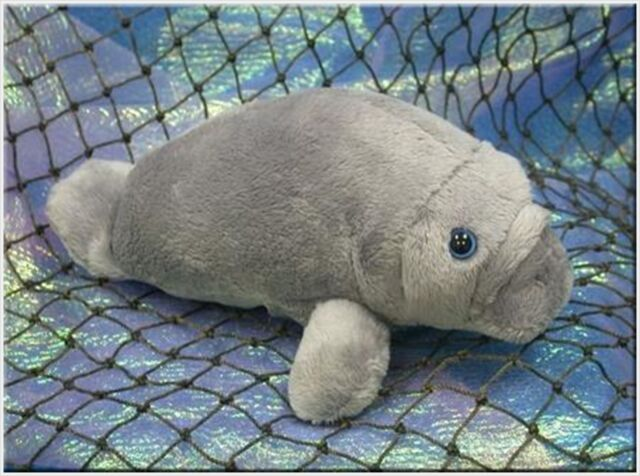 "Wishpets Child Baby Manatee Plush Toy 8"" Gray"