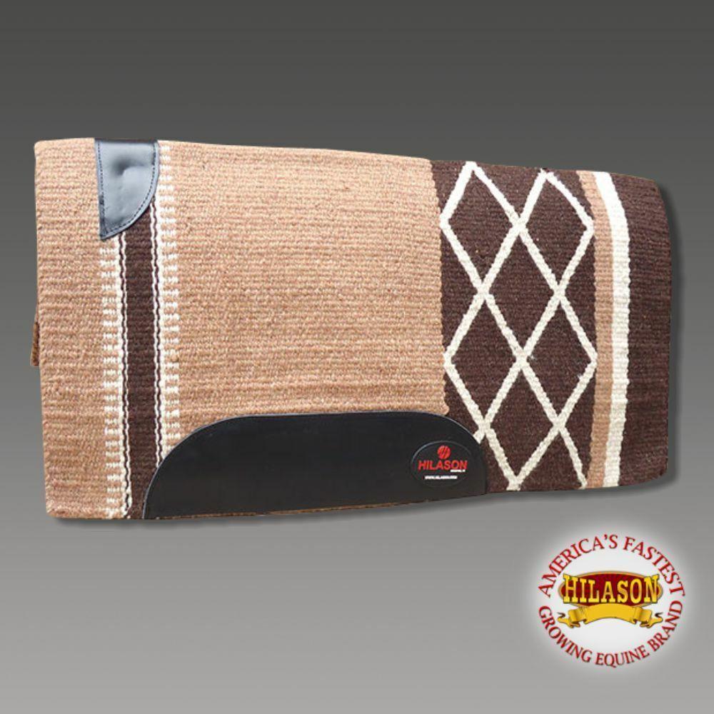 Horse Western Saddle Blanket New Zealand Wool Beige Brown U-P291   big discount