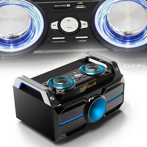 musik box stereo party audio system bluetooth dj usb sd. Black Bedroom Furniture Sets. Home Design Ideas