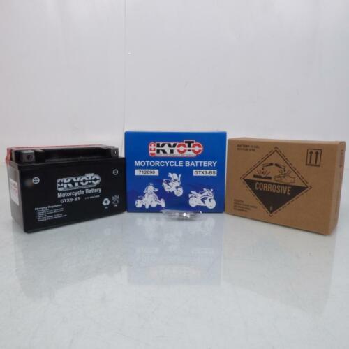 12V 8A Batterie Kyoto pour Moto Kawasaki 900 Zx-9 R Ninja 1998 à 2003 YTX9-BS