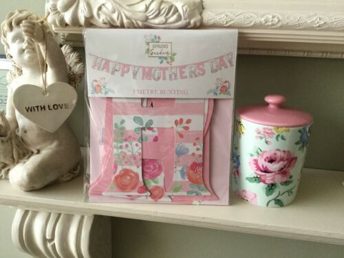 HAPPY MOTHERS DAY Spring Garden Pattern Pretty Card Bunting Banner 3m