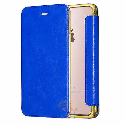 PU Leather Clear TPU Back Flip Wallet Card Case Cover for iPhone 6 6s 7 / Plus