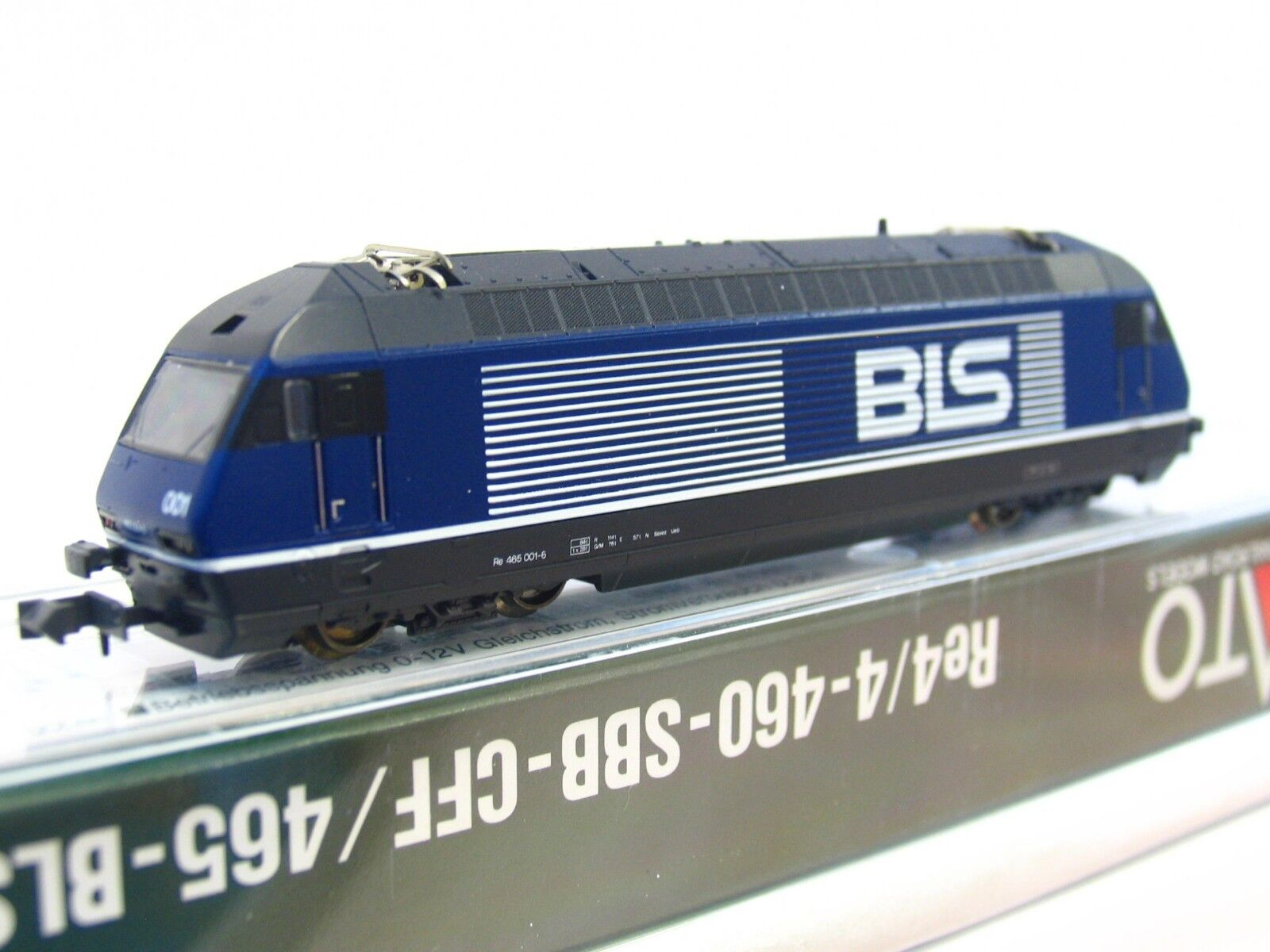 Kato n 13710 e-Lok re 465 001-6 BLS embalaje original (rb627)